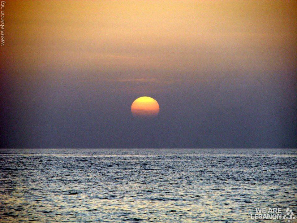 Sunset at Naqoura الغروب من الناقورة By Charles Hajj