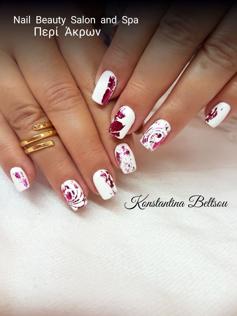 Long nails, gel nails, white nails, gel polish, square Oval Shape ...