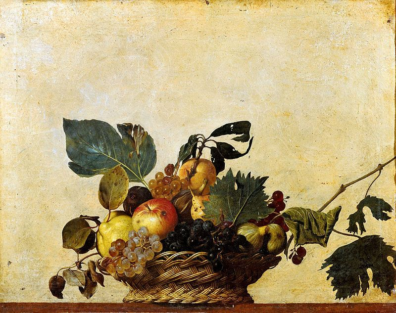 24x36 Caravaggio Fine Art Poster Print Basket of Fruit