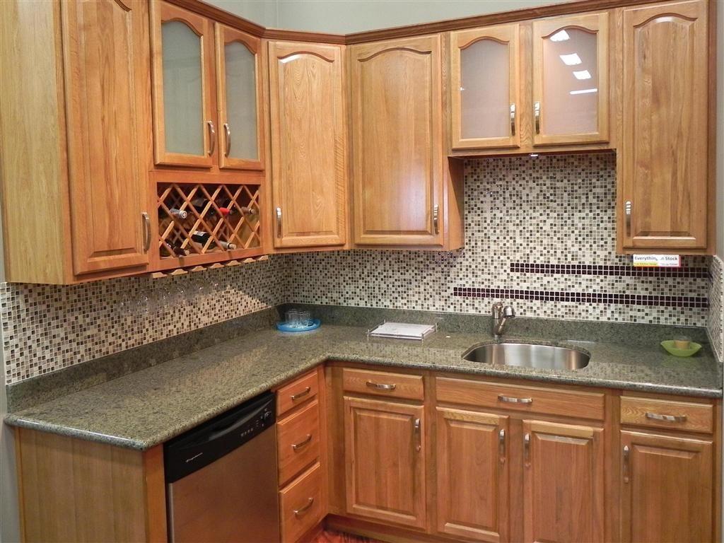 kitchen backsplash ideas with oak cabinets subway tile home color ...