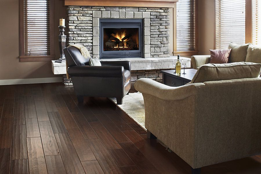 Henley Hickory Mocha Hardwood Flooring Living Room