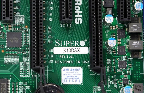 The Supermicro X10DAX is a dual Intel Xeon E5 V3 system that has a