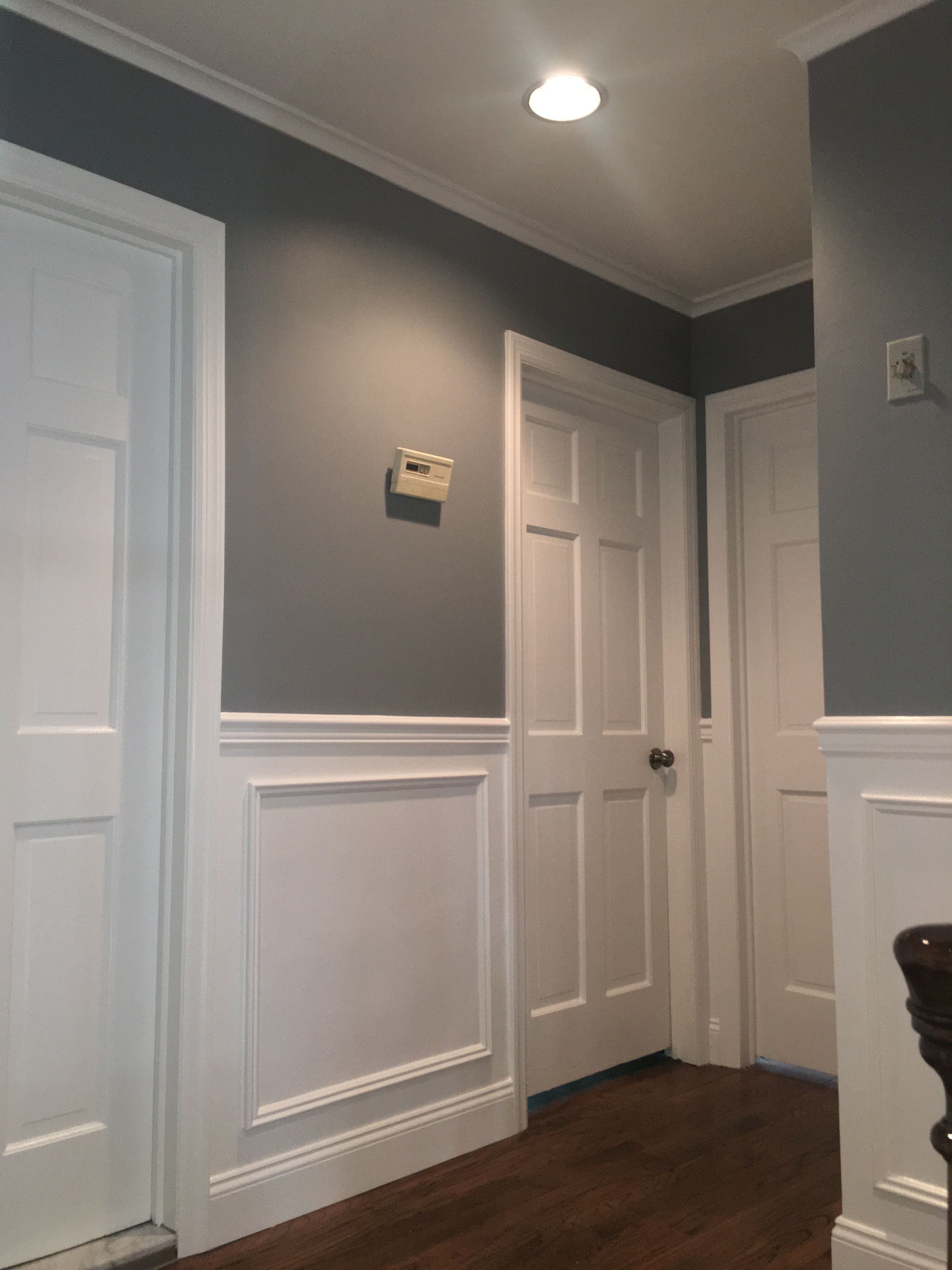 A Fresh New Coat Of 2121 30 Pewter Regal Select Eggshell For This Beautiful Home Great Job Done By Our Team Ceiling White Trim White Flats Beautiful Homes