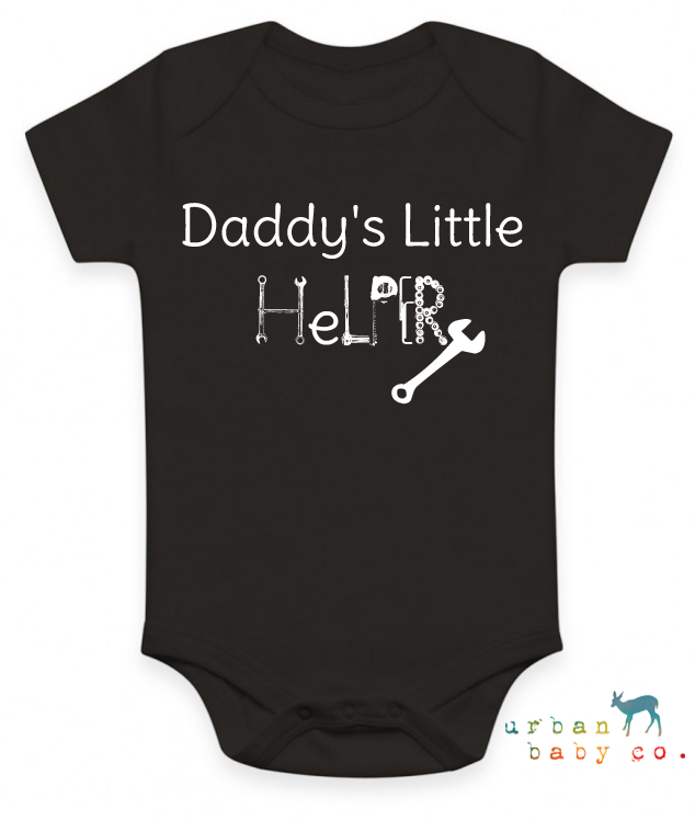 Daddy S Little Helper Organic Baby Onesie 174 Urban Baby Co