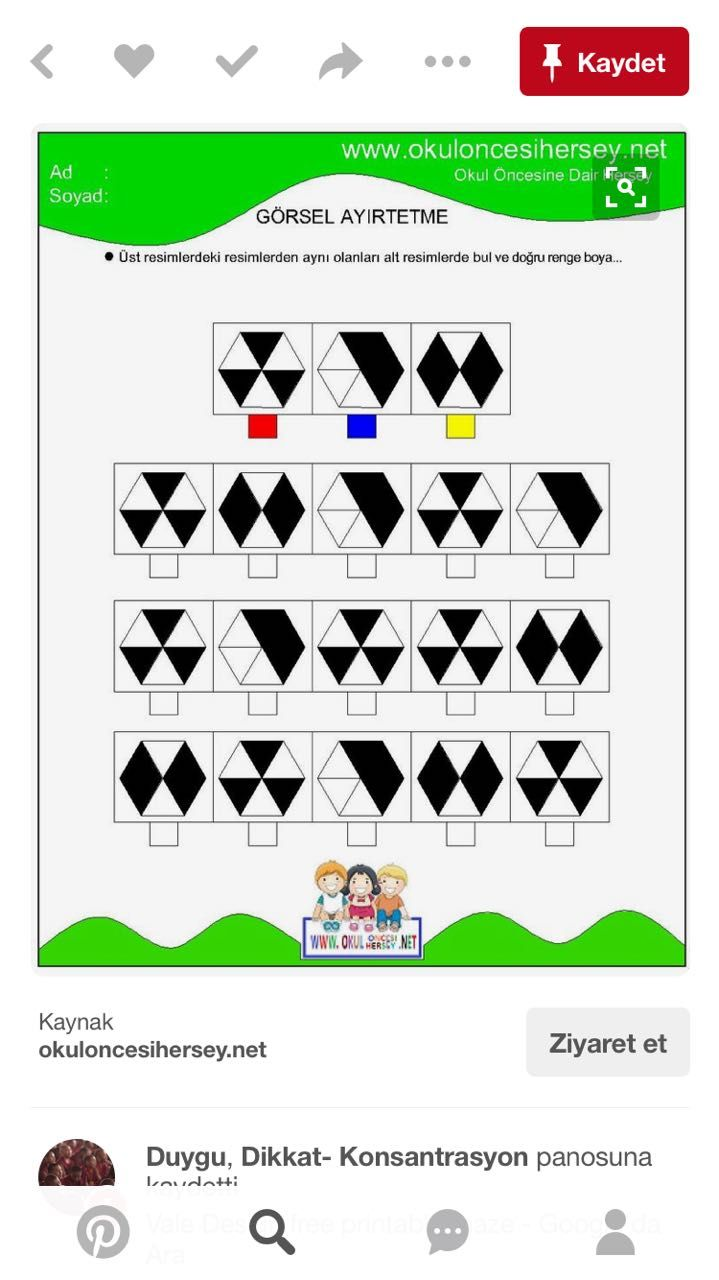 Pin von Yağmur Taşyürek auf Math Activities | Pinterest
