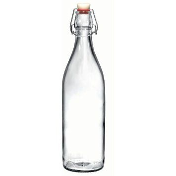 Decorative Clear Glass Bottles Endearing Amazon Bormioli Rocco Giara Clear Glass Bottle With Stopper Decorating Design