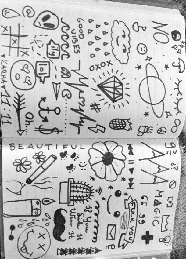 doodle, drawing, tumblr   Black pan в 2019 г.   Cute ...