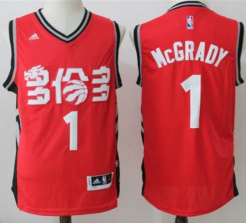 24a981262114 Raptors  1 Tracy Mcgrady Red Slate Chinese New Year Stitched NBA Jersey