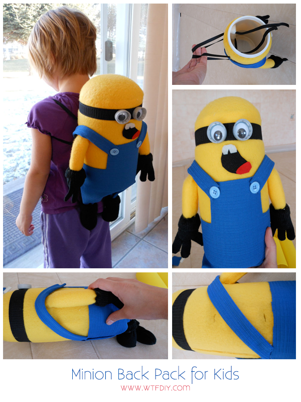 How to make Minion Backpack for your kid | WTF DIY - diy fashion, diy projects, diy clothes,
