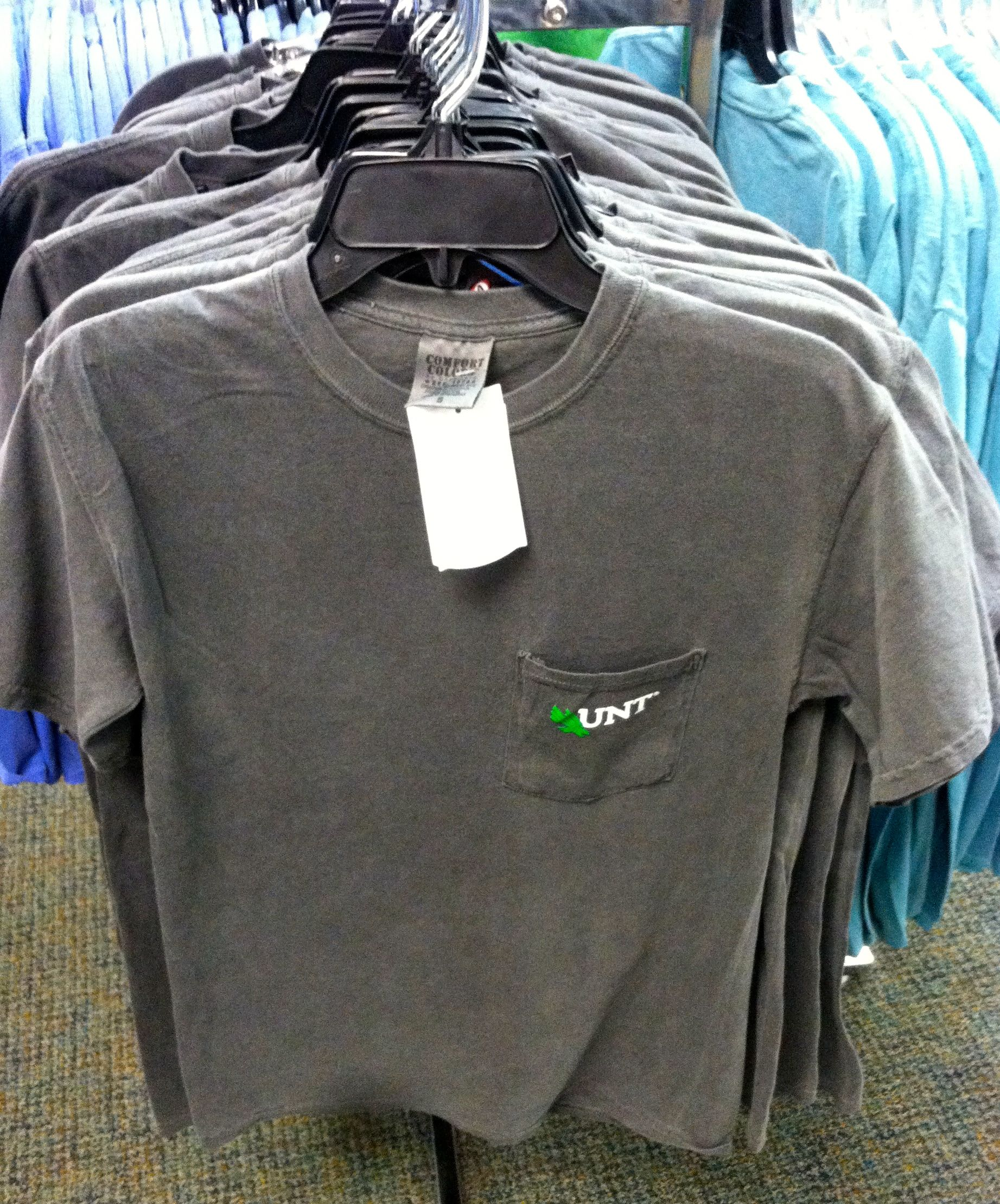 North Texas UNT Comfort Colors Frocket Shirt In 4 Different At Voertmans