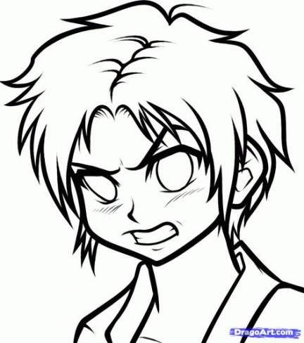 Eye Drawing Angry 58 Best Ideas Simple Face Drawing Face Drawing Anime Drawings Boy