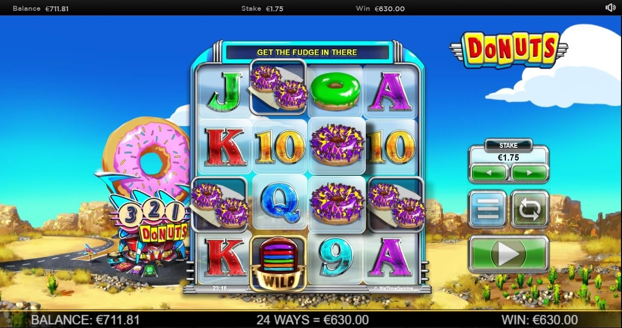 360 times bet during base game on Donuts slot game by Big
