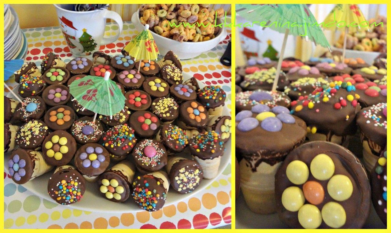 Mini Küchenzeilen kindergeburtstag eiswaffel kuchen eierlikörbecher mini kuchen bunt