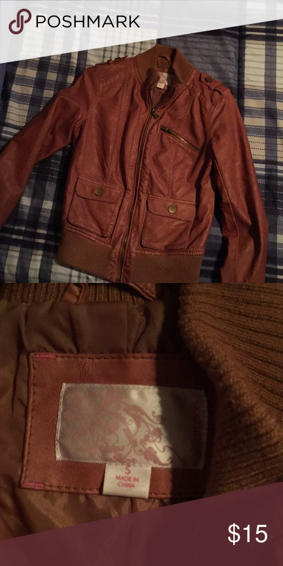 Like New Faux Leather Jacket From Target Faux Leather Jackets