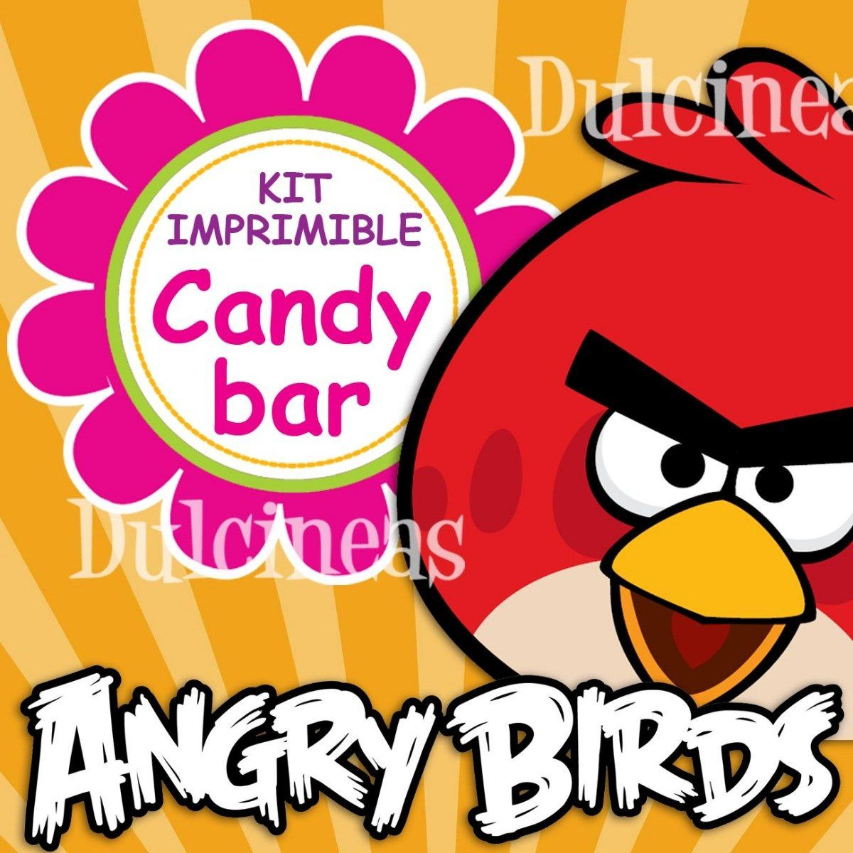 Kit Imprimible Candy Bar Angry