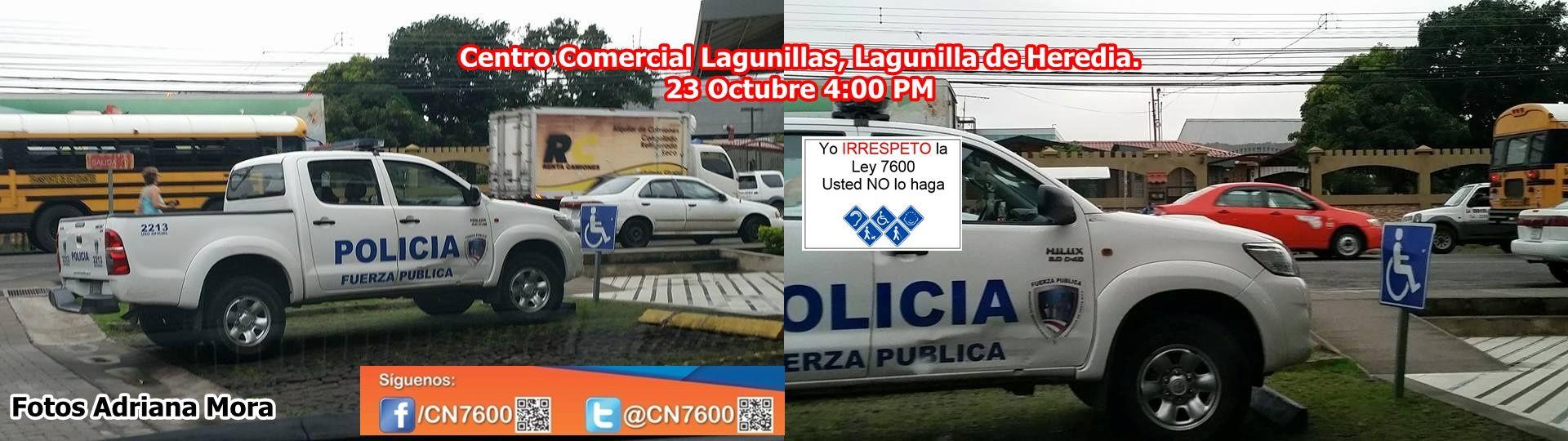 Fuerza Publica De Costa Rica Irrespeta Estacionamientos Reservados Para Pcd Estacionamiento Fuerza Costa