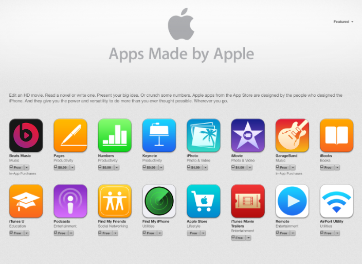 Apps Made by Apple