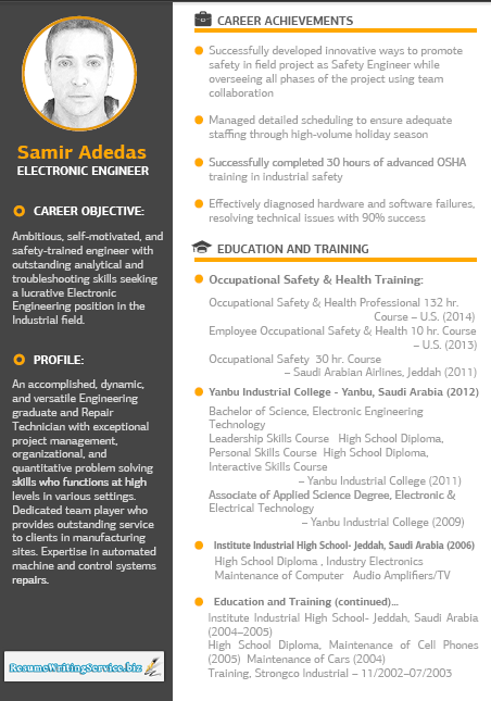 Electronic engineer resume sample is a great resume format