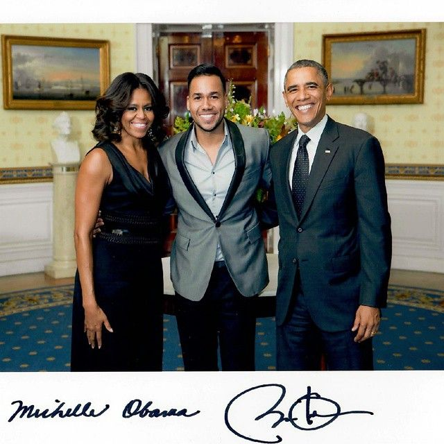 Check it out the king of Bachata in the White House with ...