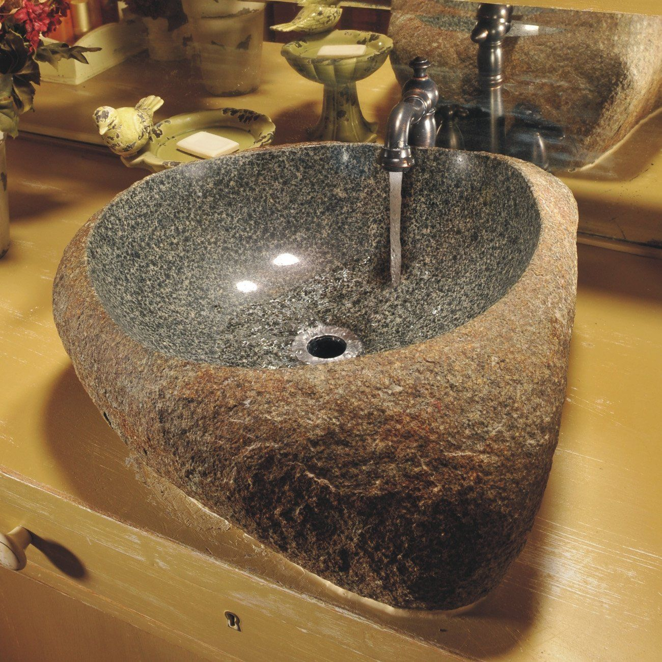 Shop Quiescence SI-V-BLDR Natural Granite Boulder Vessel Sink at ATG ...