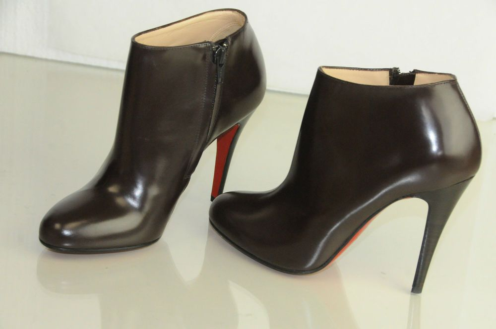f8034f68b0f  1125 New CHRISTIAN LOUBOUTIN Belle 100 Eden Brown Ankle Boots Shoes 36.5  38.5
