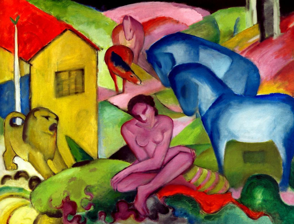 Franz Marc - The Dream, 1912 at Museo Thyssen-Bornemisza Madrid Spain