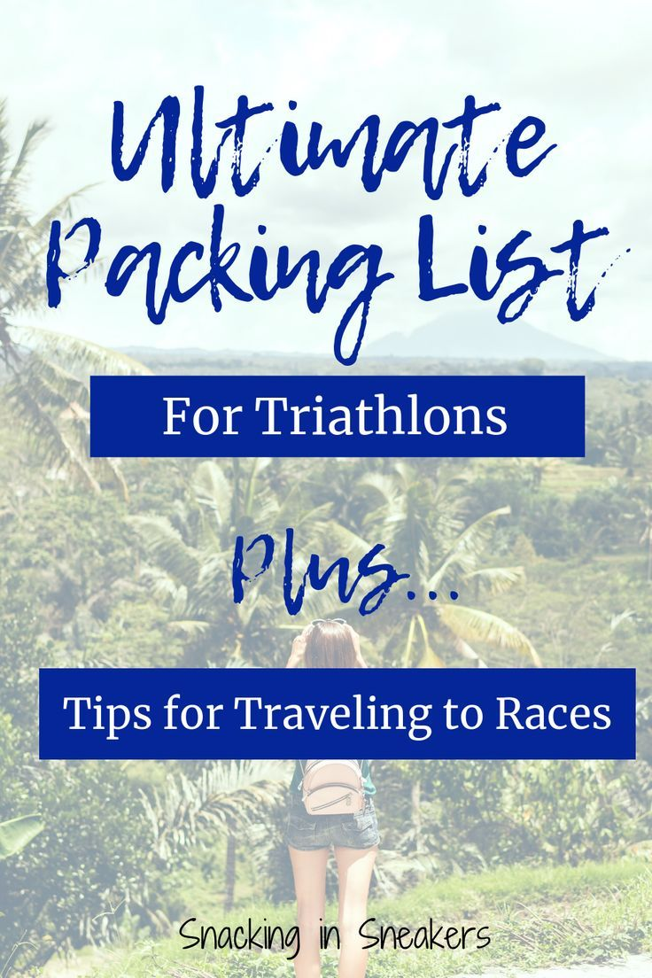 Are you in the midst of triathlon training for a destination race?  Or even just a local race but wa...