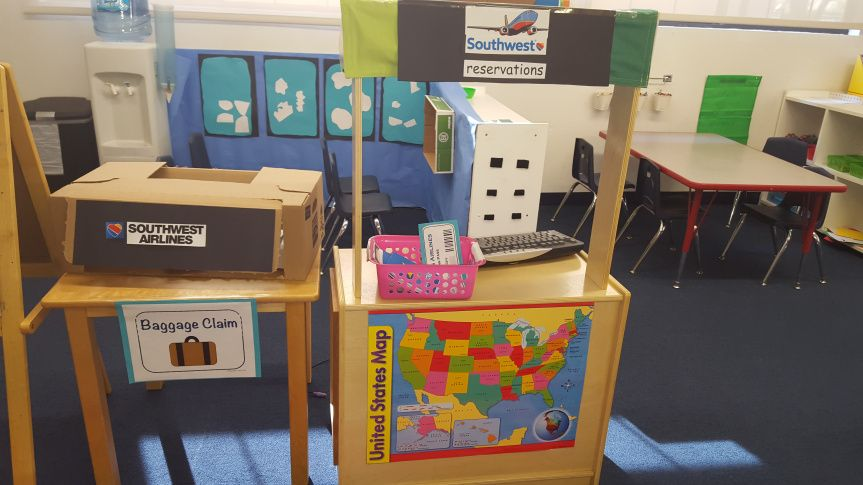 Airport Dramatic Play Preschool Classroom Ideal