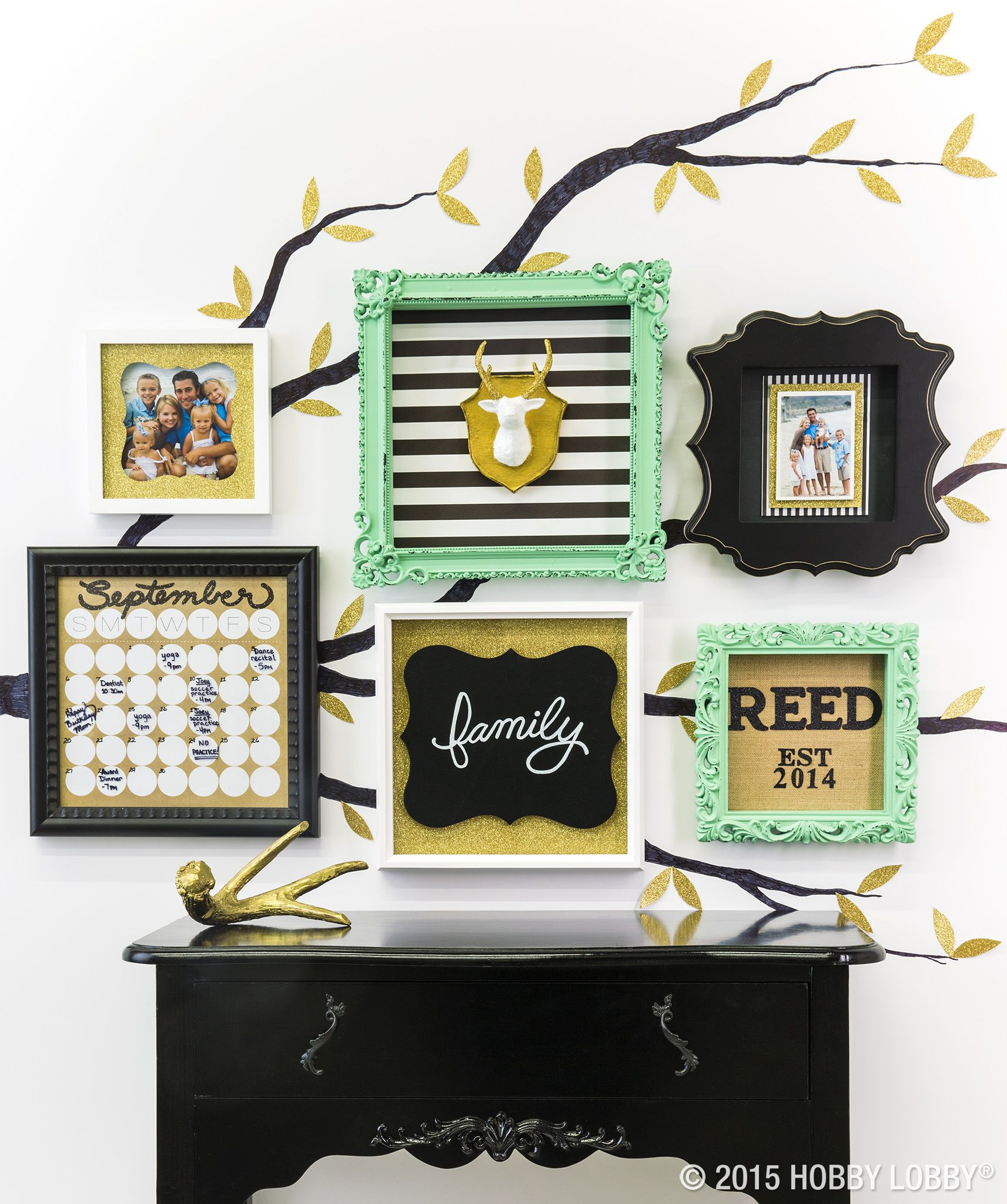 Fall in love with your very own gallery wall. Memory frame shadow ...
