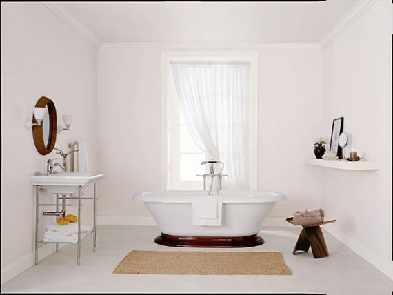 Decoration Mesmerizing Ideas To Choosing A White Paint For Luxe - Curved bath mat for bathroom decorating ideas