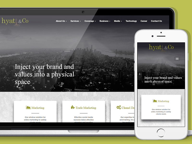 Hyatt and Co - Responsive Website by T W S