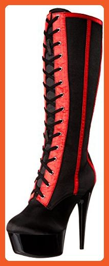 7337f2143ca47 Ellie Shoes Women's 609-Raven-S Boot, Black/Red, 10 B US - Boots for ...