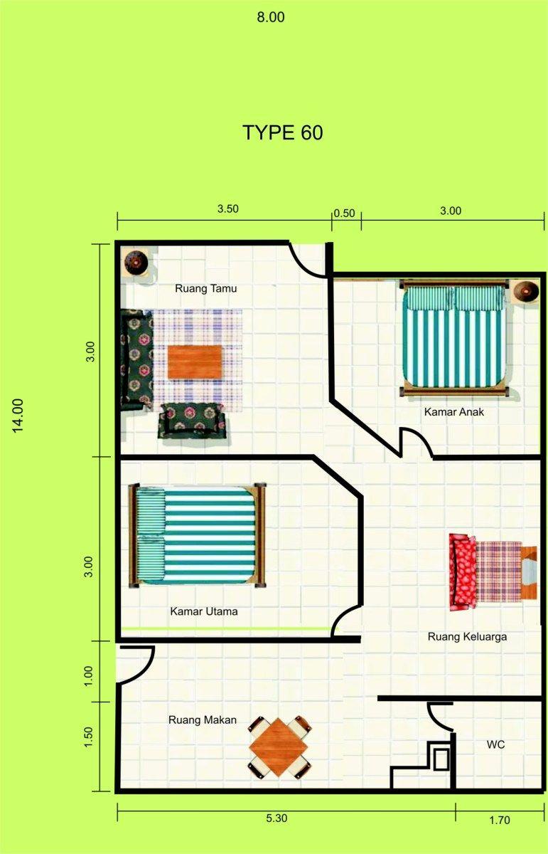 Desain Model Rumah Minimalis Ukuran 5×7