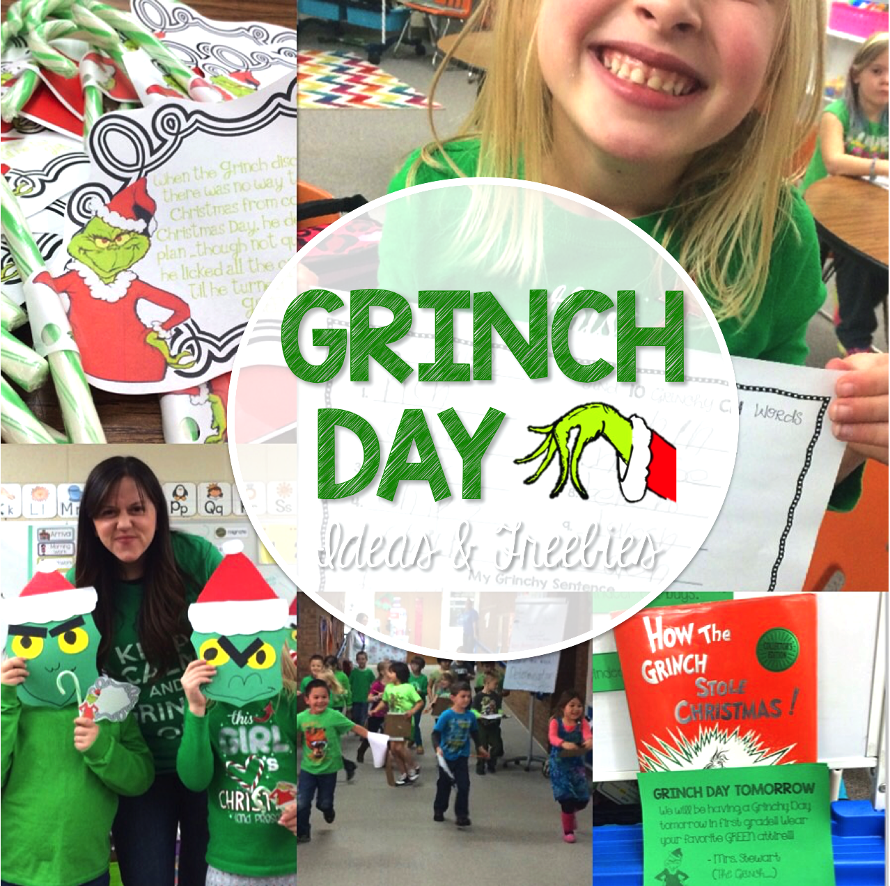 Grinch Day Activities And Freebies Plus Reindeer And