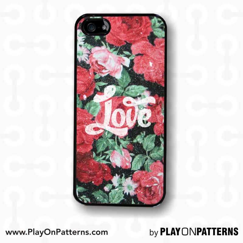 Roses, cute, cellphone case ,love