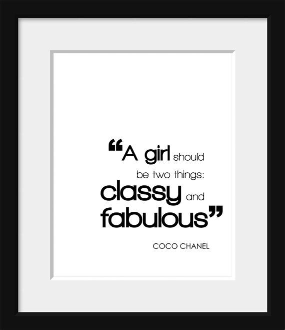 Typography Poster,Coco Chanel,Black and White Print,Paris
