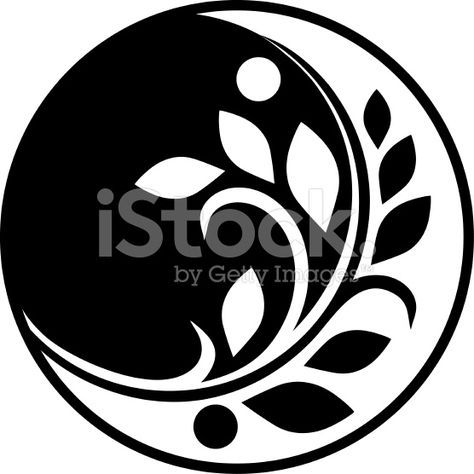 Decorative floral ornament in a circle