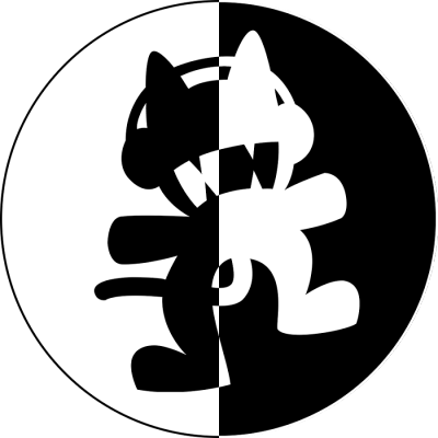 M0n2st3rcat Unc4g3d Album Art Cyberpunk Art Logo Sticker