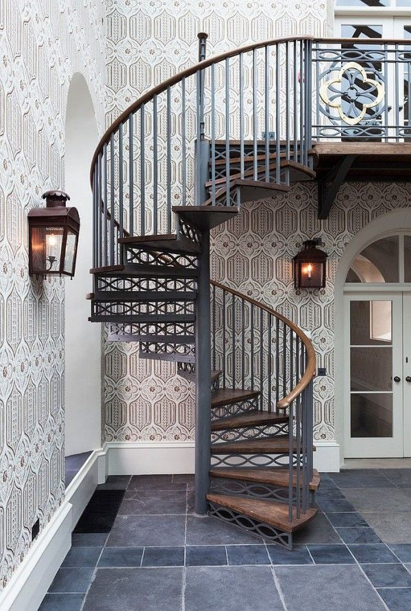 Best Space Saving Spiral Staircase With A Backdrop Draped In 640 x 480