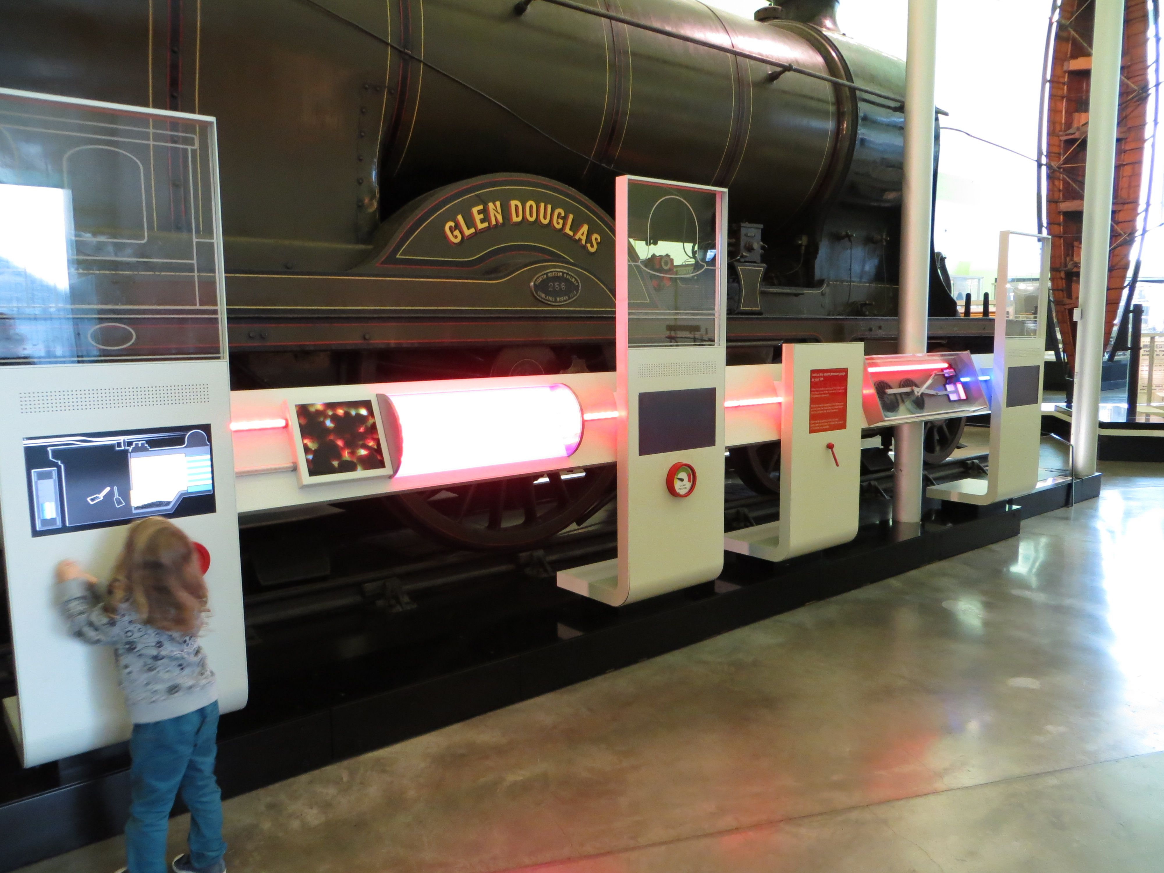Glen Douglas locomotive hybrid interactive exhibit