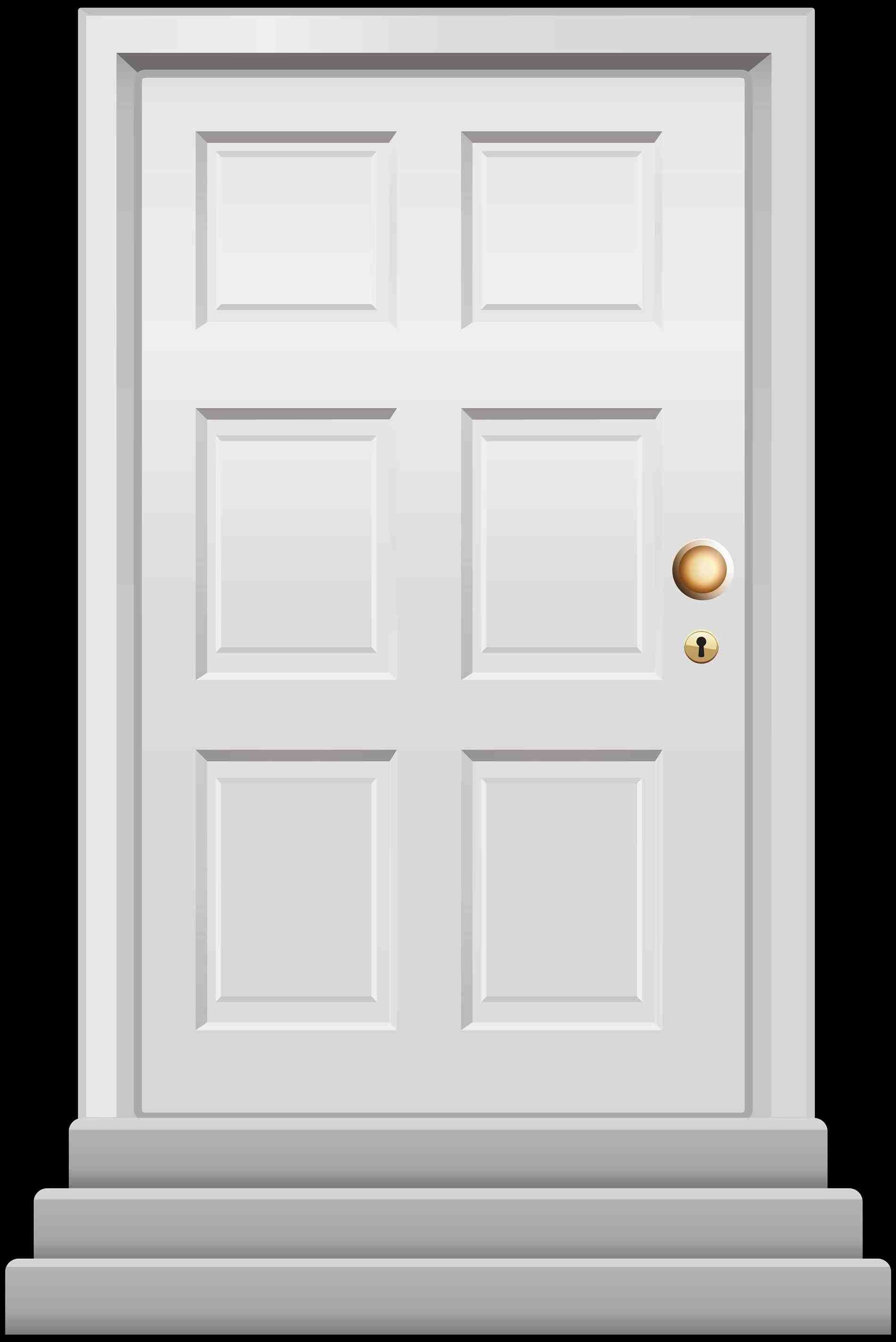 49+ Wooden door clipart black and white information