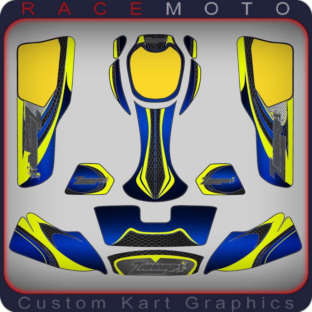Karting Sticker Kit For Zanardi New Age 2 Na2 Pods Nosecone Nassau Panel In 2020 Sticker Kits New Age Pods