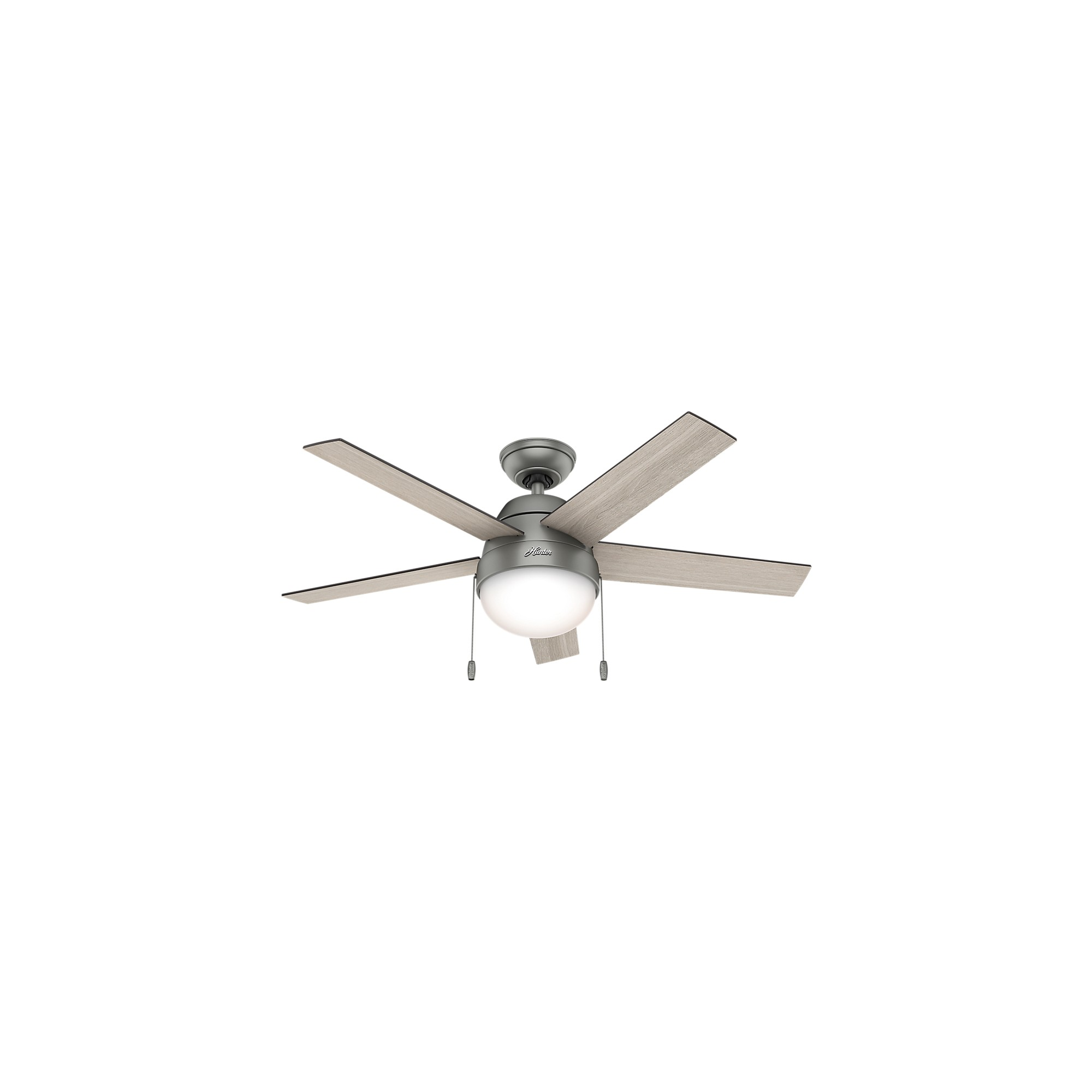 Hunter Fan 14 X 24 X 10 Inch Brushed Nickel Chrome Lighted Ceiling
