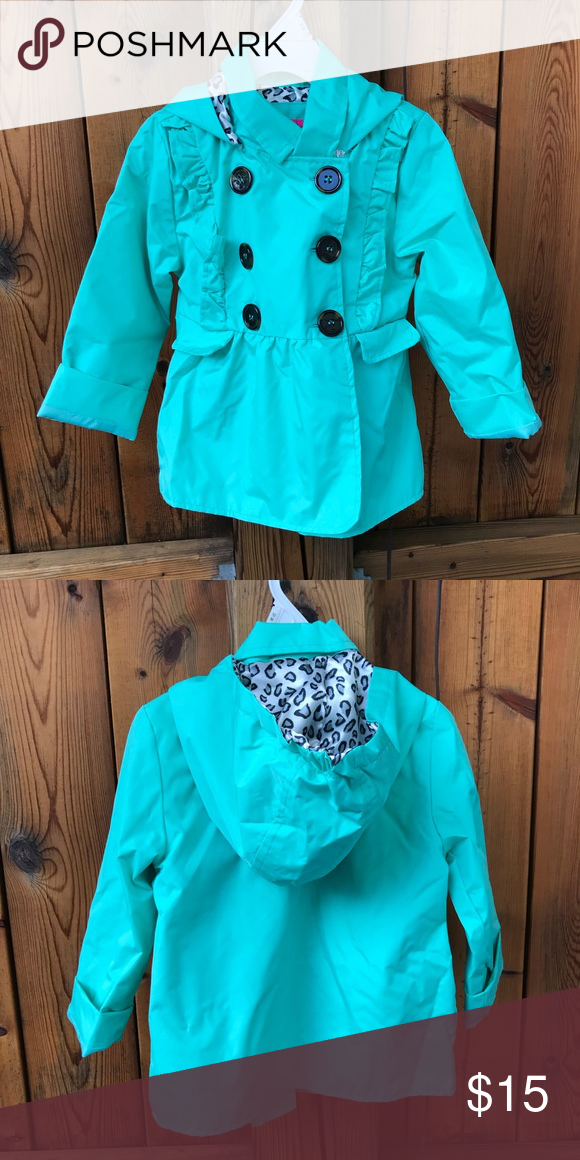 629e8070d872 Toddler Mint Rain Jacket Size 3T NWT
