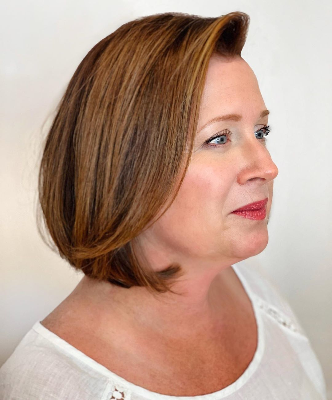 blownout bob  30 best bob hairstyles for women over 50