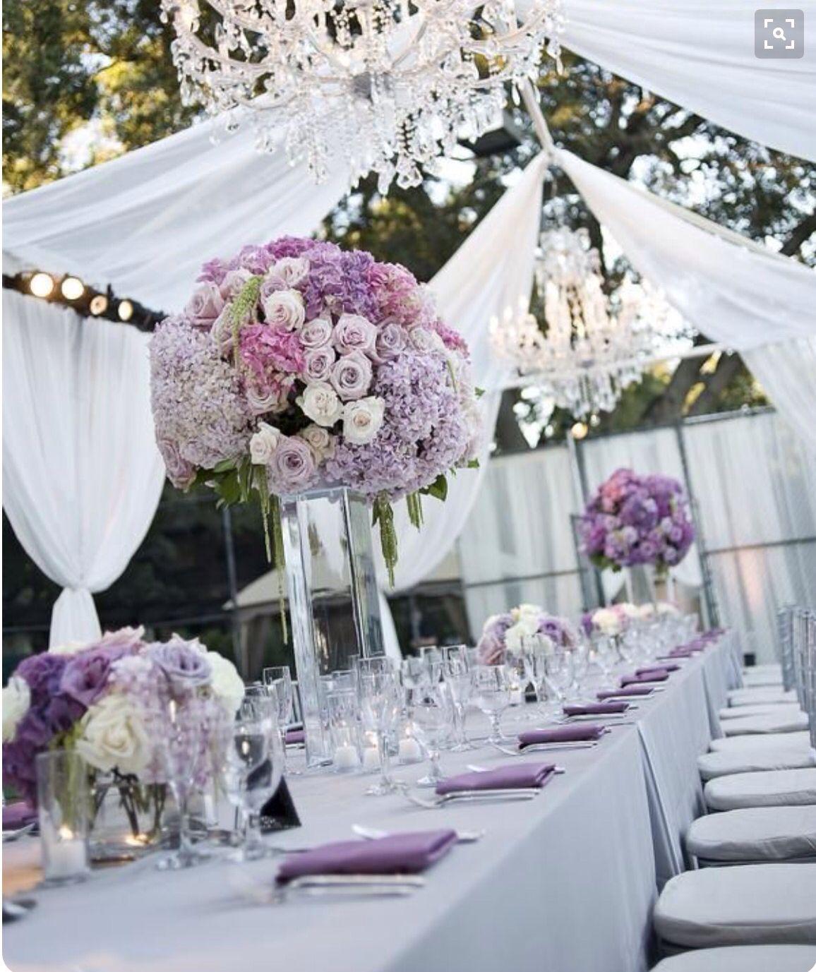 Purple Wedding Ideas With Pretty Details: Backyard Wedding, Wedding Decorations