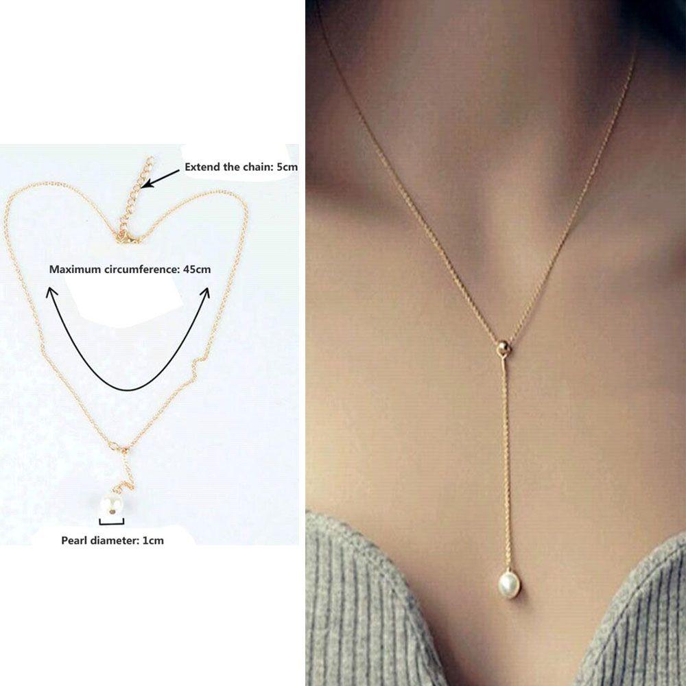2016 New Fashion Top Quality Simulated Pearl Jewelry Sample Style Just Sampel Kualitas Simulasi Mutiara Perhiasan Gaya Adjustable Rantai Pernyataan Kalung Untuk Wanita Pengiriman Gratis