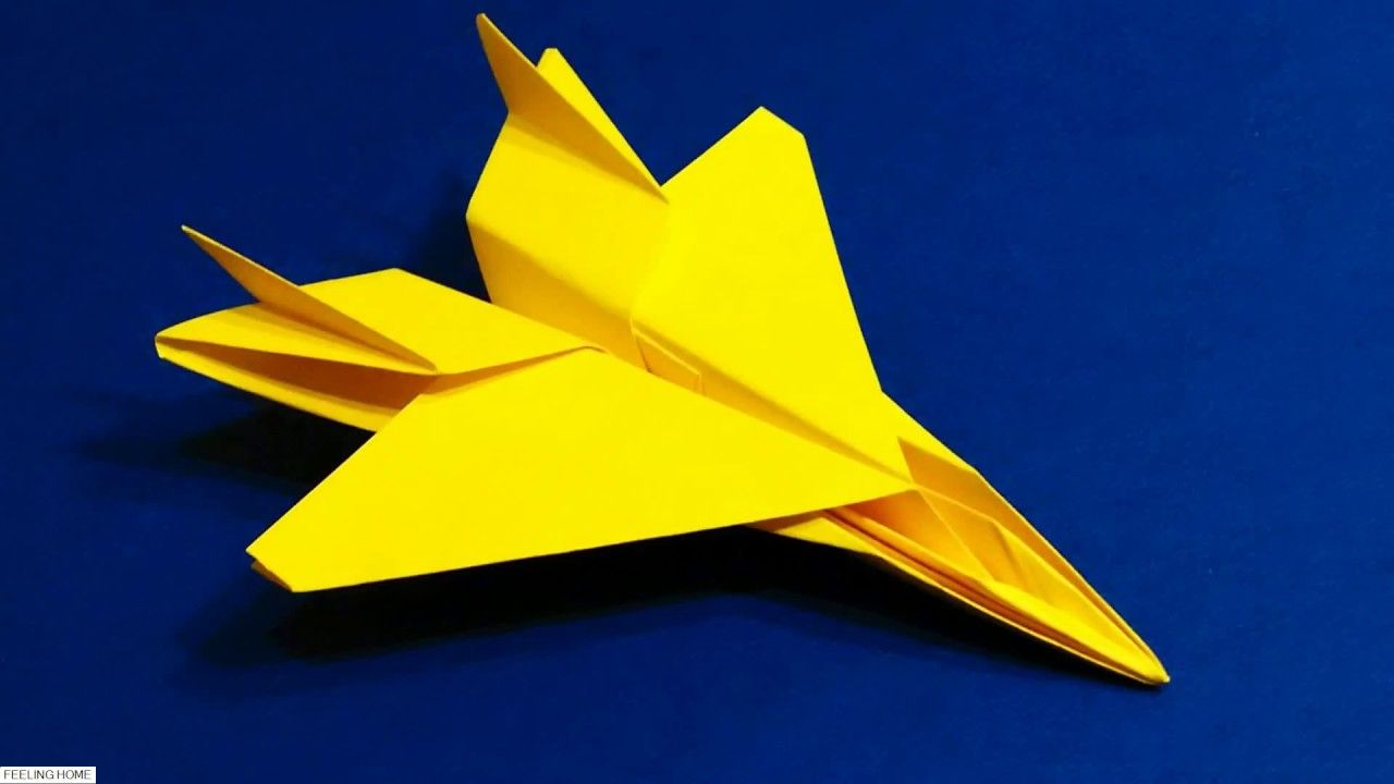How to make paper aeroplanes at home