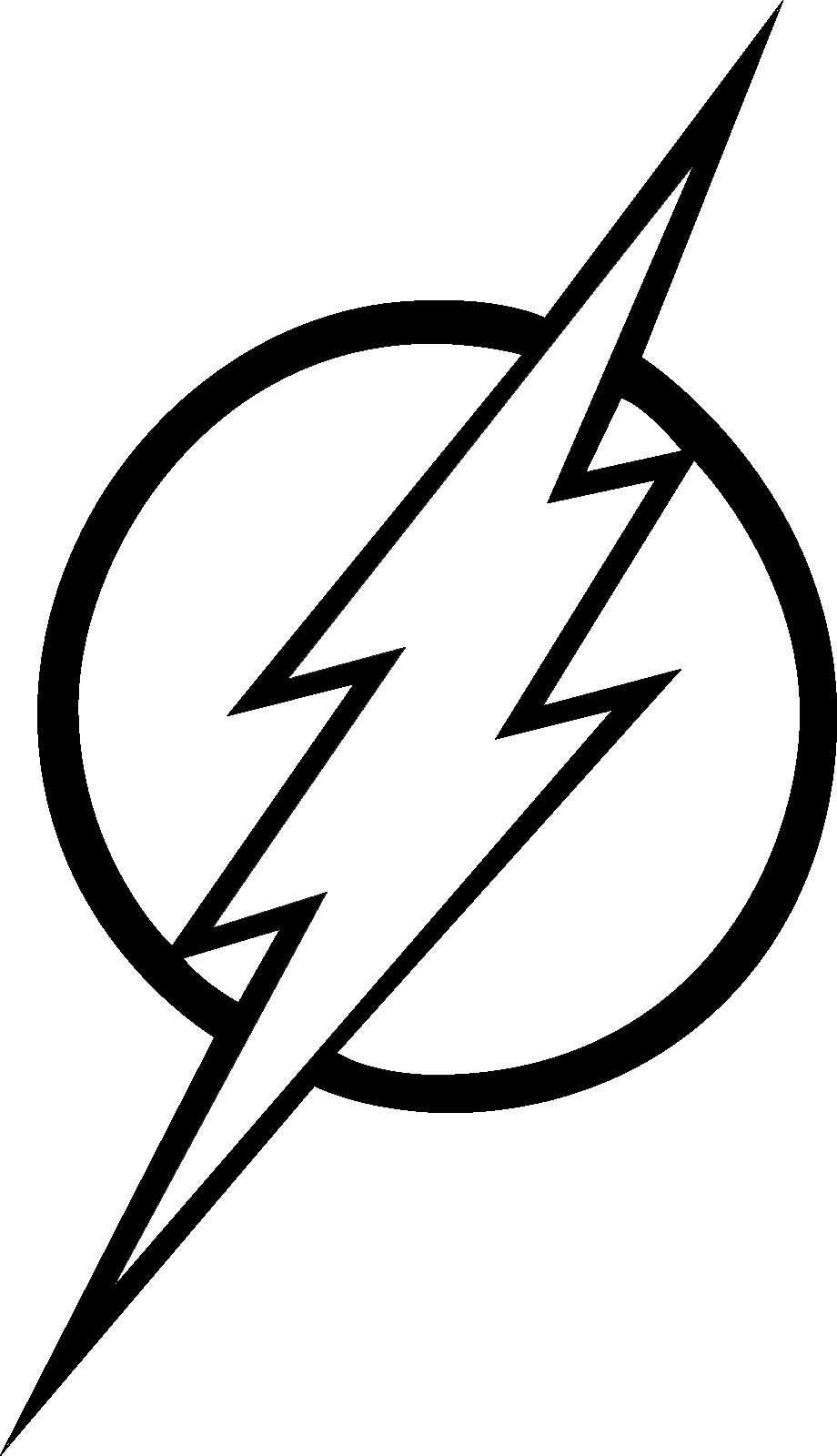 flash logo coloring