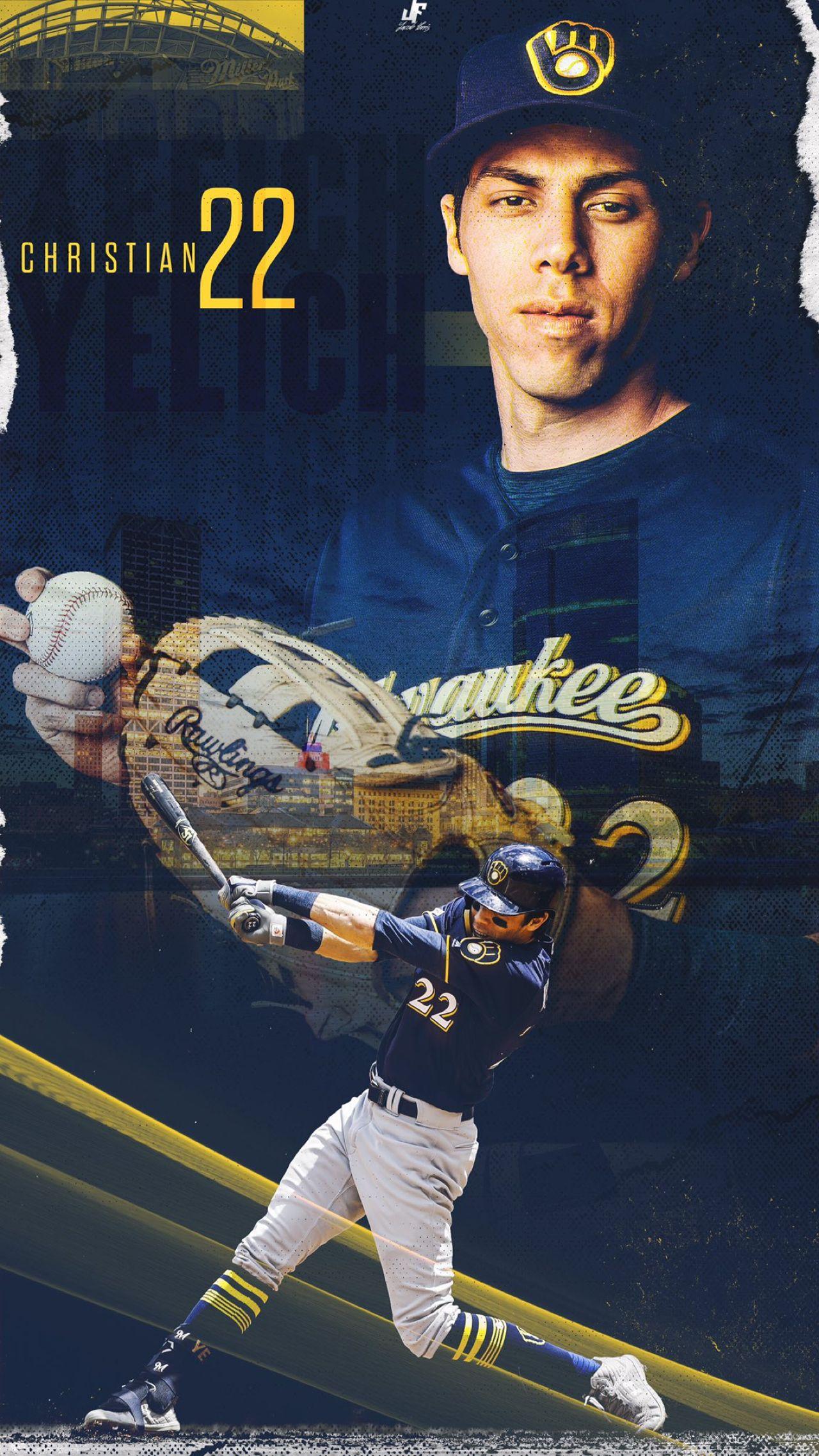 Pin By T J Wᴀᴇɢᴇ On Milwaukee Brewers Christian Yelich Christian Yelich Wallpaper Brewers Baseball